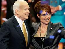 John McCain y Sarah Palin en la película Game Change