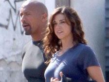 Fotos: Dwayne Johnson y Adrianne Palicki vistos en el set de GI Joe 2