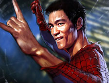 Bruce Lee es Spider-Man en arte de un fan