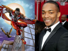Anthony Mackie es The Falcon en Captain America 2