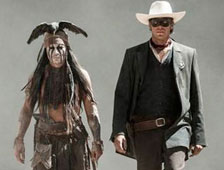P&oacute;ster de The Lone Ranger con Johnny Depp