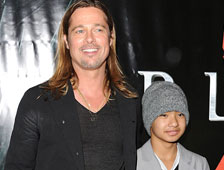 El hijo de Brad Pitt interpreta a un zombie al que se le dispara en World War Z