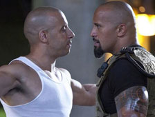 Foto: Vin Diesel y Dwayne Johnson en el set de Fast and Furious 7