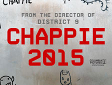 Primer póster para la película de robot Chappie, con Sharlto Copley y Hugh Jackman