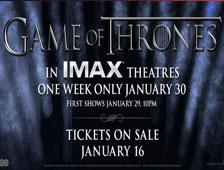 Dos pósters para proyecciones IMAX de Game of Thrones